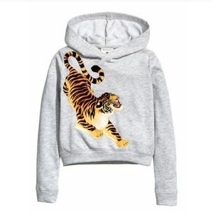 H&M Cropped Tiger Hoodie